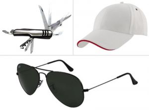 Buy Jack Klein Combo Of Swiss Knife, White Cap And Sungalss online