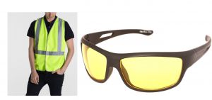 Buy Buy Night Biker Reflector Jacket Get Driving Sunglass Free online