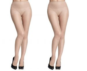 Buy Wetex Premium Pack Of 2 Korean Sheer Silky Nude Pantyhose Free Size (product Code - 20d Ph-s-po-2) online
