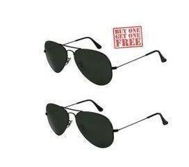 Buy Buy 1 Get 1 Free - Black Aviator Sunglasses online