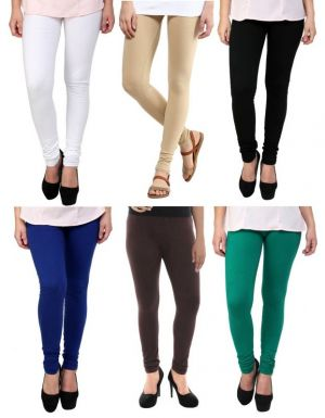 Buy Stylobby Set Of 6 Cotton Lycra Legging online