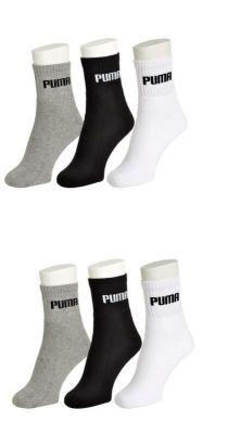Buy Puma Mens Cotton Multicolor Socks (6 Pair Socks- 2-black, 2-white , 2 Grey) (code - Puma-2) online