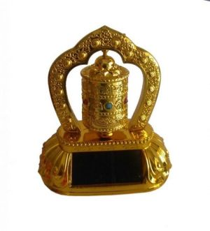 Buy Sobhagya Feng Shui Rotating Solar Prayer Wheel Ornaments Bells Car /home online