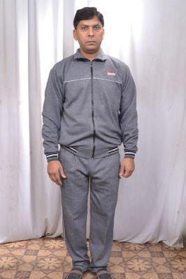 Buy V Sports 42 Grey Cotton Wool Tracksuit Exercising With 3 Pair Sports Socks online