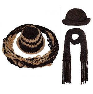 Buy Buy Ladies Winter Woolen Cap And Get Weave Muffler Free online
