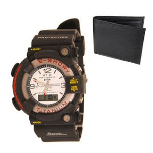 Buy New Stylish Wrist Watch For Men & Free Black Wallet online