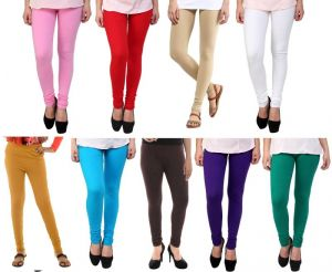 Buy Stylobby Set Of 9 Cotton Lycra Legging online