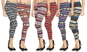 Buy Printed Woollen Legging For Ladies ( Assorted Colours ) online