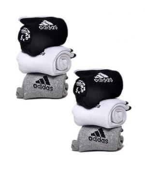 Buy Adidas Mens Cotton Multicolor Socks (6 Pair Socks- 2-black, 2-white , 2 Grey) (code - Adidas-2) online