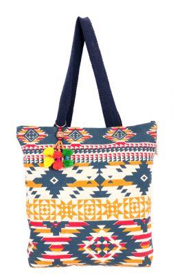 Buy Pick Pocket Blue Aztec Tote online