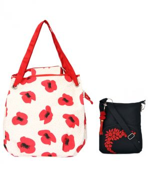 Buy Combo Of Pick Pocket Poppy With Black Small Sling Bag online