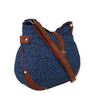 Pick Pocket True Blue Large Canvas Sling Bag