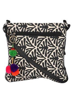 Buy Pick Pocket Canvas Sling Bag With A Tassle online