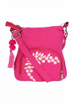 Buy Pick Pocket Canvas Fuschia Small Sling Bag online
