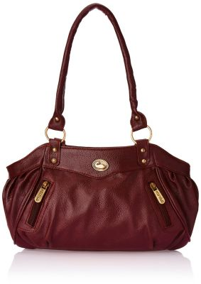 Buy Fostelo Swann Magenta Leather Handbag online