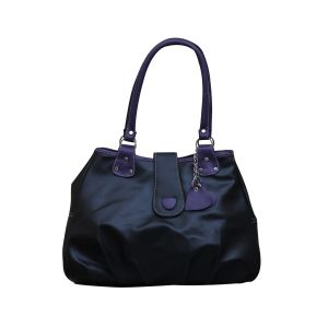 Buy Fostelo Lil Hearts Flap Black Handbag online