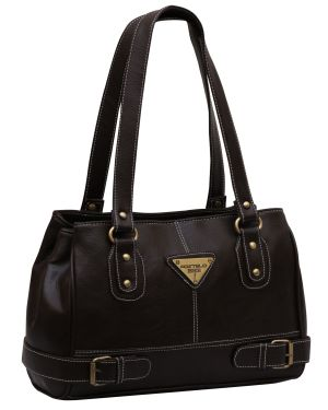 Buy Fostelo Swiss Triangle Brown Handbag online