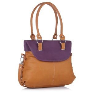 Buy Fostelo Fashion Doubleflap Tan Handbag online