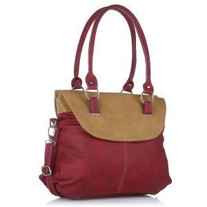 Buy Fostelo Fashion Doubleflap Maroon Handbag online