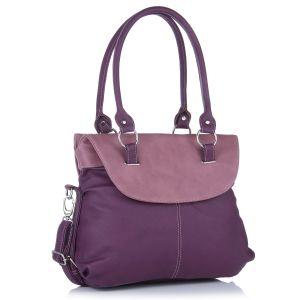 Buy Fostelo Fashion Doubleflap Purple Handbag online