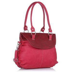 Buy Fostelo Fashion Doubleflap Pink Handbag online