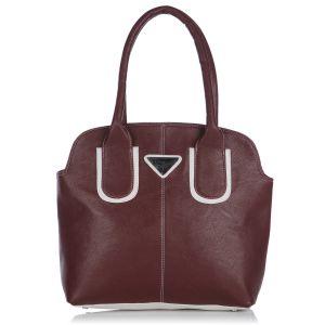 Buy Fostelo Pebble Medium Maroon Handbag online