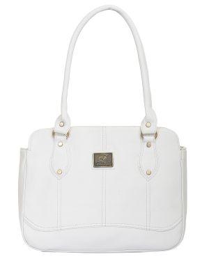 Buy Fostelo Women's Kansas Shoulder Bag White (fsb-647) online