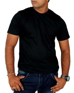 Buy Plain Black Round Neck Tshirt online