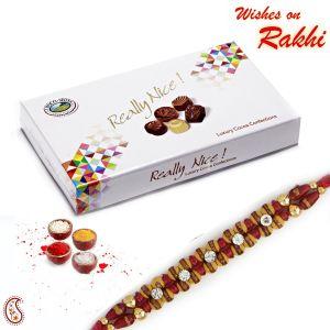 Buy Luxury Cocoa Chocolates Pack And Send Rakhi Gifts - Buy Rakhi Online Hamper online