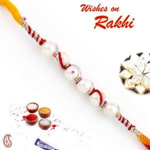 Buy Rakhi For Abroad_aapno Rajasthan Twisted Pearl Rakhi With Thread String - Int_prl17583 online