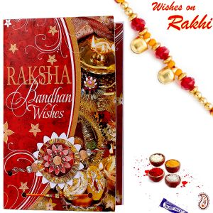 Buy Aapno Rajasthan Multicolor Rakhi Message Card With Free Rakhi - Rcd1711 online