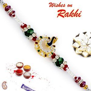 Buy Aapno Rajasthan Gold Peacock Motif Multicolor Beads - Rj17392 online
