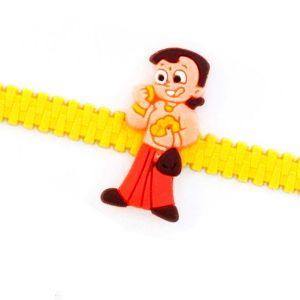 Buy Rakhi For Uae- Aapno Rajasthan Lovely Kids Motif Yellow Strap Kids Rakhi - Uae_rk17802 online