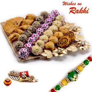 Buy Rakhi For Uae - Premium Assorted Sweets Pack With Free 1 Rakhi - Uae_rm1761 online