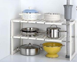 buy kawachi stainless steel sink shelf retractable storage rack