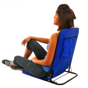 Buy Kawachi Folding Floor Cum Yoga Picnic Camping Meditation Chair - Dark Blue online