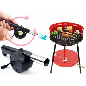 Outdoor Cooking Bbq Fan Air Blower For Barbecue Fire Bellows Hand Crank