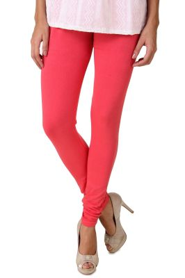Buy Fasense Women's Coral Pink Cotton Leggings online