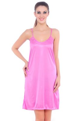 Buy Fasense Women Satin Slip Nightwear Sleepwear Short Nighty Dp059 C online
