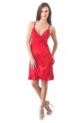 Buy Fasense Women Stylish Satin Nightwear Sleepwear Short Nighty Dp084 A online