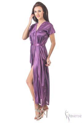 Buy Fasense Women Stylish Satin Nightwear Sleepwear Wrap Gown Dp102 A online