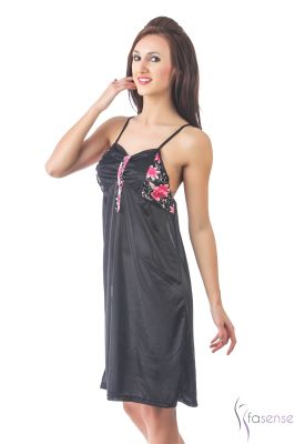 Buy Fasense Women Stylish Satin Nightwear Sleepwear Short Nighty Dp106 B online
