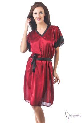 Buy Fasense Women Stylish Satin Nightwear Sleepwear Short Kaftan Dp107 A online
