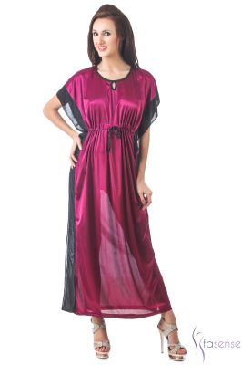 Buy Fasense Women Stylish Satin Nightwear Sleepwear Kaftan Dp108 C online
