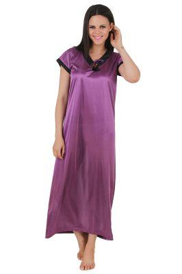 924bb6263c Buy Fasense Exclusive Women Satin Nightwear Sleepwear Long Nighty online