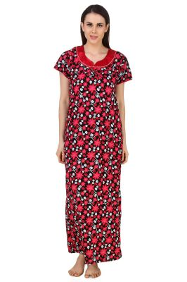 Buy Fasense Exclusive Women Shinker Cotton Nightwear Sleepwear Long Nighty, online