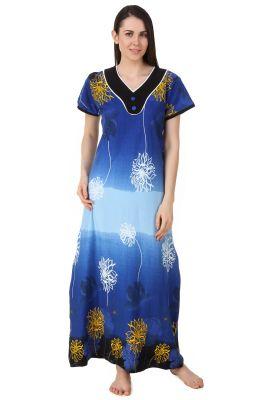 5971348123 Buy Fasense Women Sinker Cotton Nightwear Sleepwear Long Nighty online