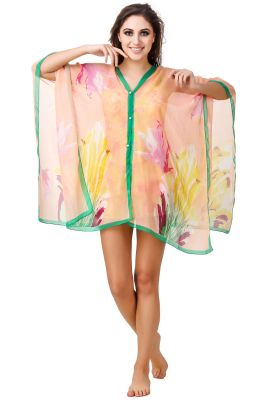 Buy Fasense Floral Printed Multi Beachwear Cover Up online