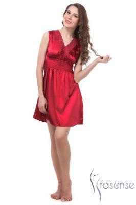 ef77a4c0e0 ... Buy Fasense Exclusive Women Crimson Korean Satin Short Slip Nighty  Rr024 A online timeless design 849a6 ...