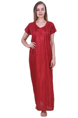 Buy Fasense Women's Satin Nightwear Long Nighty online